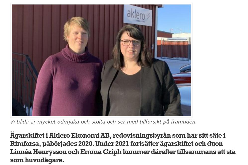Aklero i tidningen Innehåll